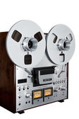 Analog Stereo Open Reel Tape Deck Recorder Vintage Isolated — Stock Photo