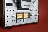 Analog Stereo Open Reel Tape Deck Recorder VU Meter — Stock Photo