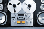 Analog Stereo Open Reel Tape Deck Recorder Vintage — Stock Photo