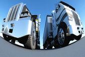 Two trucks — Stock Photo