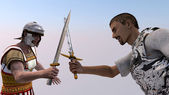Battling knights — Stock Photo
