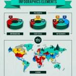 Vector set of infographics elements — Stock Vector