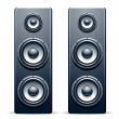 Stock Vector: Two audio speakers