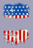 Grunge banner USA national flag — Stock Vector