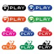 Set of musical buttons — Stock Vector #1395798