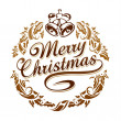 Merry christmas typography - Stock Vector