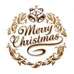 tipografia de Natal feliz — Vetorial Stock