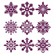 Set of vector snowflakes — Stock Vector #14103266