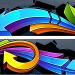 Two horizontal graffiti banners — Stock Vector