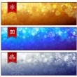 Set of horizontal luminous Christmas banners — Stock Vector #14103319