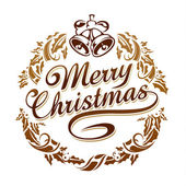 Merry christmas typography — Stock Vector