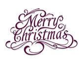 Frohe weihnachten vektor kalligraphischen schriftzug. — Stockvektor