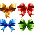 Vector set of beautiful gift bows — Stock Vector #14681581