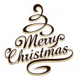 Merry christmas typography — Image vectorielle