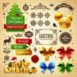 Cтоковый вектор: Christmas decoration vector elements set