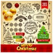 Christmas decoration vector elements set — Vector de stock #14681727