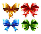 Vector set of beautiful gift bows — Stock Vector