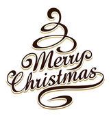 Merry christmas tipografi — Stok Vektör