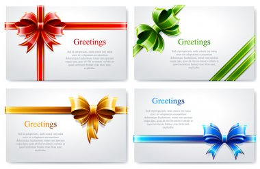 Vector set of beautiful business cards