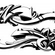 Black and white graffiti backgrounds — Stock Vector