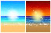 Seascape backgrounds — Stock Vector