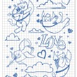 Royalty-Free Stock Vectorielle: Hand-drawn lovely cats