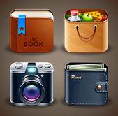 ícones de alta detalhadas apps — Vetorial Stock