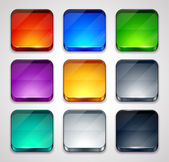 Vector illustration of high-detailed apps icon templates — Stock Vector