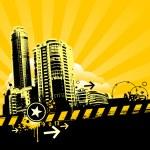 Urban design. Dirty grunge technique. EPS 8 vector illustration. — Stock Vector #20136053