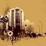 Urban design. Dirty grunge technique. EPS 8 vector illustration. — Stock Vector #20136143