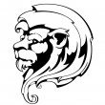 Sculpture of a lion's head — Stock Vector #20185215