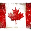 Royalty-Free Stock Vector Image: Old grunge flag of canada background vector
