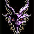 Devil over dark background — Image vectorielle