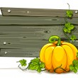Vector halloween pumpkin with space for your text - Stock Vector
