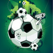Sport background. Soccer ball . Grunge style . Vector illustration. — Stock Vector