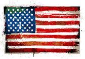Grungy USA flag. EPS 8 vector illustration. — Stock Vector