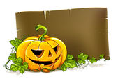 Design of placard for halloween party — Stock Vector
