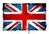 Grungy UK flag. EPS 8 vector illustration. — Stock Vector