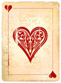 Playing cards Vintage Poster — Vetorial Stock