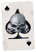 O cartão de ace com caveira coração abstrato — Vetorial Stock