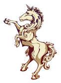 Unicorn blazon — Stock Vector