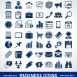 Vector set of simple business icons. - Imagens vectoriais em stock