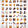 Vector set of 56 simple universal web icons. — Vector de stock