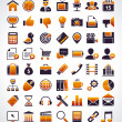 Vector set of 56 simple universal web icons. — Cтоковый вектор