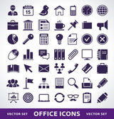 Vector set of simple office life icons. — Stock Vector