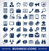 Vector set of simple business icons. — Stock Vector