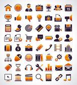 Conjunto de vetores de 56 ícones simples web universal. — Vetorial Stock
