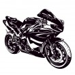 Sport bike — Stock Vector