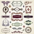 Stock Vector: Vintage design elements