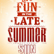Summer typography — Stock Vector